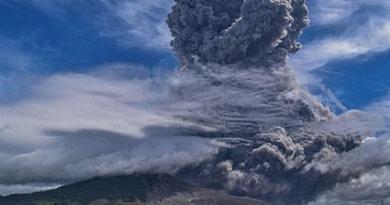 Mount Sinabung Volcano Erupts Indonesia